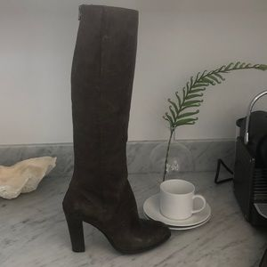 Enzo distressed tall dress boot, new never worn